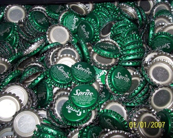 50  SPRITE BOTTLE CAPS new unused pop / soda bottle caps
