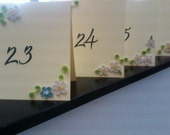 Quilled flower Wedding Table Numbers-As Seen in Brides Magazine