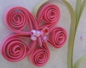 Pink Quillled Flower Gift Bag