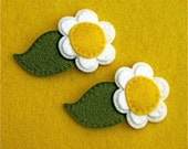 SPECIAL ORDER for Bonnie -  TWO Wool FCustom Orderelt Hair Clips