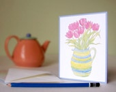 Cards -  Tulips, Set of 4