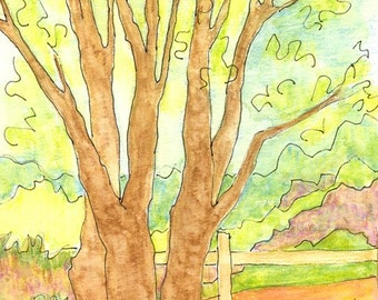 Cards - Tree, set of 4 FREE Shipping in USA
