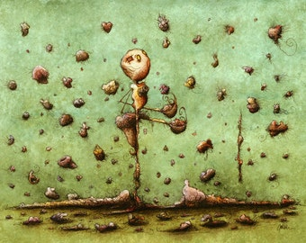 Former Lives Rain Down - fine art print