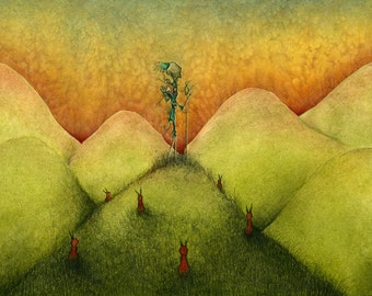 In Search Of A View - fine art reproduction