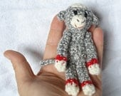 Tiny Sock Monkey - choose your color
