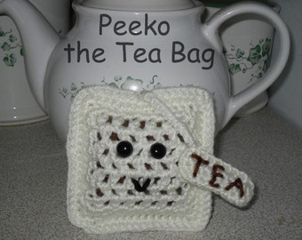 PATTERN - Peeko the amigurumi Tea Bag