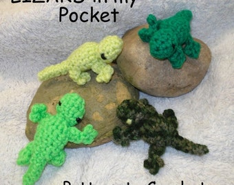 PATTERN - Lizard in my Pocket - amigurumi Pocket Pal