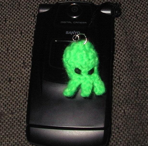 Amigurumi Penguin Cell Phone Strap : Cthulhu head cell phone charm amigurumi