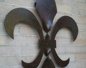 2-1/2 foot tall Twisted Fleur de lis Sculpture   New Orleans, Louisiana art, steel, metal,  Cajun, French Quarter , Saints Slidell