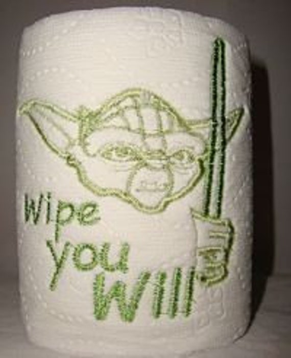 Yoda Star Wars Novelty Gag Gift Embroidered Toilet Paper