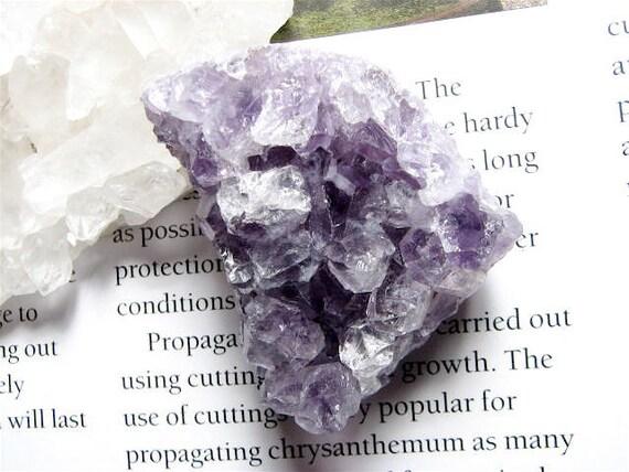 HUGE, Abstract Amethyst Quartz Crystal Bead