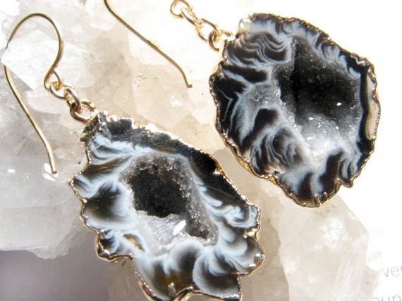 Ariadne, COUTURE-Geode Cavern Earrings