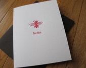 Letterpress Bee Mine Valentine Card