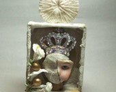 THE SNOW QUEEN assemblage shrine from the Cabinet of Curiosities by Soulcharm