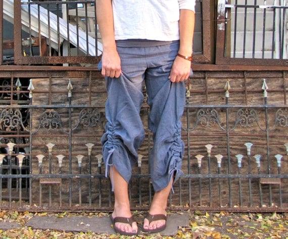 Hemp Linen Ruched Ontario Pants
