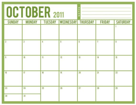 monthly chore calendar
