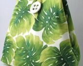cotton  tote bag, spring purse, green handbag, diaper bag, laptop bag,  shoulder bag