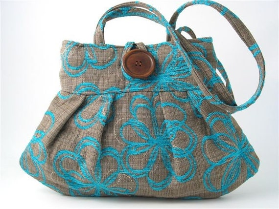 SMALL AND SEXY SPRING BAG MADE FROM BEAUTIFUL ITALIAN TAPESTRY