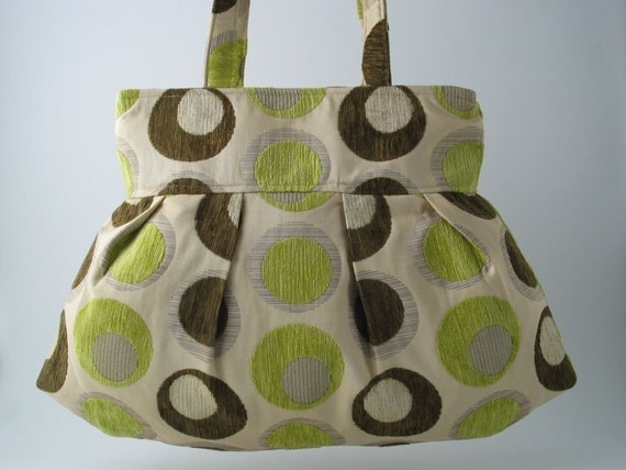 CELEBRATE WITH CIRCLES-LARGE PLEATED BAG