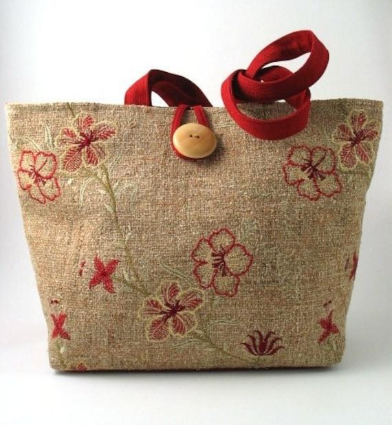 handmade XL hobo, tote bag , shoulder handbag, italian fabric