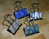 Chiyogami-Covered Binder Clips