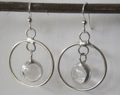 Small Hoop and Glass Earrings