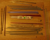 Vintage and new knitting needles and crochet hooks