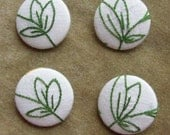 Go Green vintage embroidery buttons