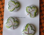 Ivy leaf vintage embroidery buttons