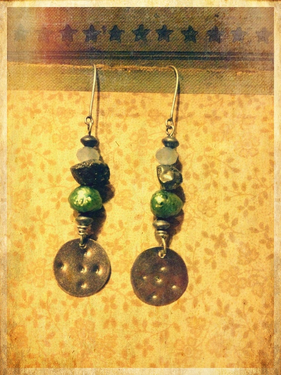 Four Directions Nomad Glass and Freshwater Pearl Earrings