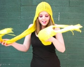 Yellow Sunshine Scoofie - hooded scarf