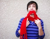 RED SCOOFIE - Hooded Scarf
