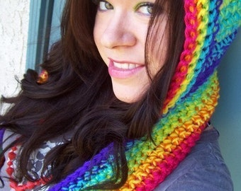Custom Color & Style Scoofie - 4 to 6 colors - Magical Hooded Scarf Made To Your Specifications