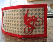 Bike Excite Wallet Red on Houndstooth