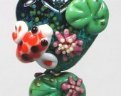 Made to order Margo lampwork beads Koi heart