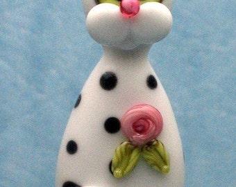 Made to order Margo handmade lampwork beads cat pendant