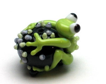 Made to order Margo lampwork beads halloween frog