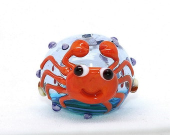 Made to order Margo lampwork beads hollow crab