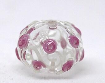 Made to order Margo lampwork beads hollow rose