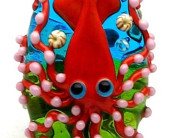 Made to order Margo lampwork beads squid