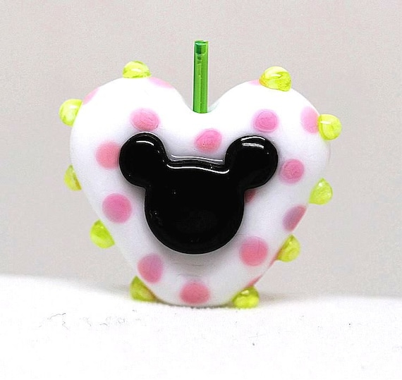 Made to order Margo lampwork beads mouse heart