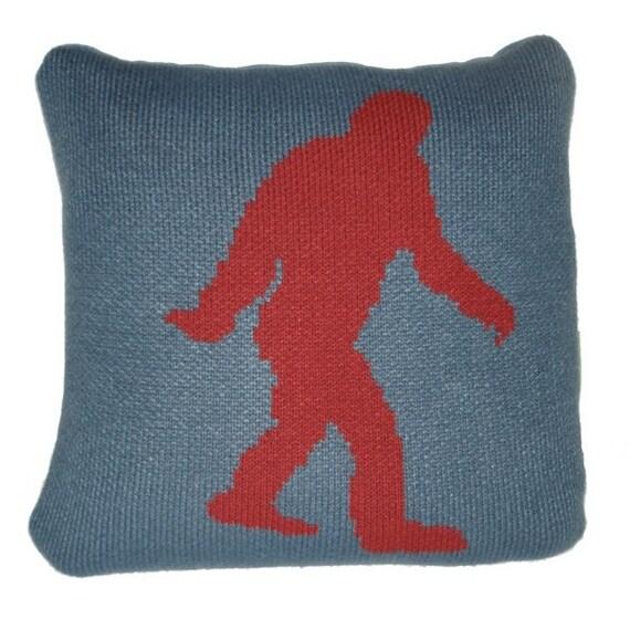 Bigfoot Knitted Pillow