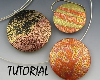 Tutorial - Polymer Clay Focal Bead and Pendant with Variations