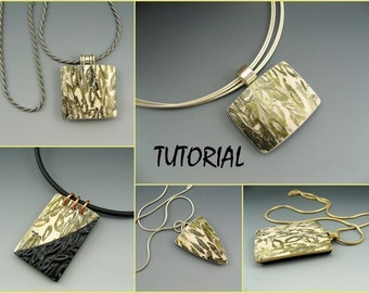Tutorial - polymer clay pendant construction and decorative surface technique