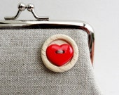 Sweet Heart Button Purse