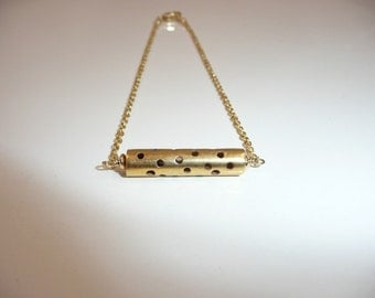 Raising the Bar - vermeil and gold filled anklet