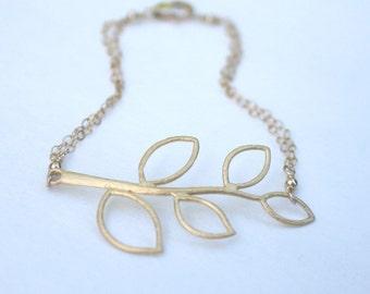 Free shipping - Gold Branch gold filled bracelet