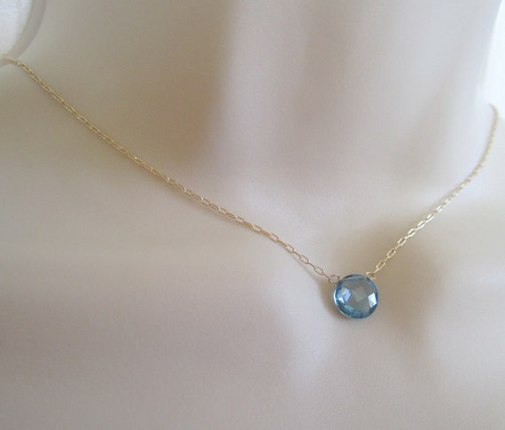 black friday cyber monday sale london blue topaz faceted coin pendant necklace