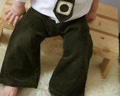 SALE - Little Corduroy Pants - Hunter Green - 2T