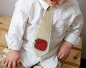 Tie for your Little Guy - Beige Modern - Custom order for thejohnsons3
